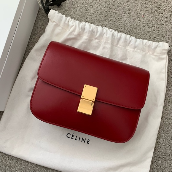 Celine Handbags - Celine classic box red medium c7f432d8efdfd